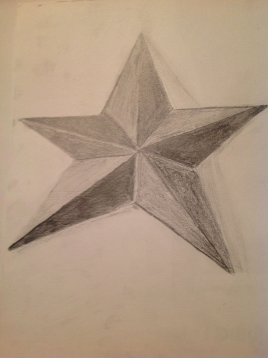 Star Pencil Drawing