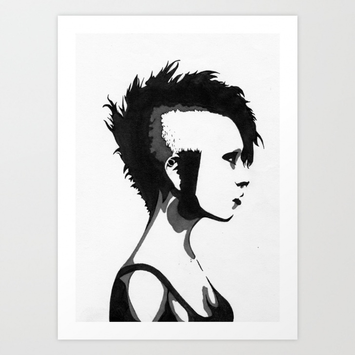 Popular Stencil Art Girl Free Tank Girl Stencil Art Print Images