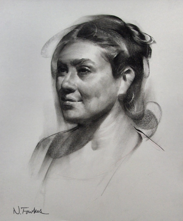 Popular Step By Step Charcoal Portrait Courses Nathan Fowkes Art: Charcoal Demo Image