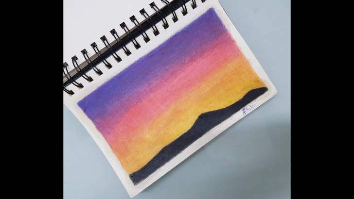 Popular Sunset With Colored Pencils Ideas Drawing Sunset Using Colored Pencils Pic