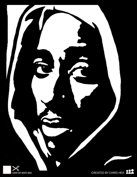 Popular Tupac Stencil Art Techniques Image Result For 2Pac Black And White | Diy | Pumpkin Stencil Pics