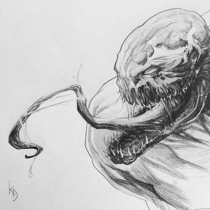 Popular Venom Pencil Art Easy Pin By Dmitry Kalinichenko On My Artworks | Pencil Drawings, Marvel Photos