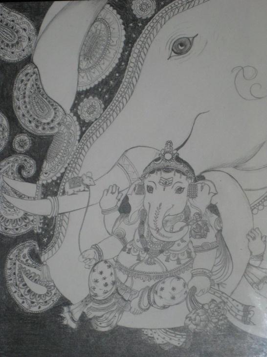 Popular Vinayagar Pencil Sketch Ideas Booni's: Vinayagar Pencil Sketch Picture