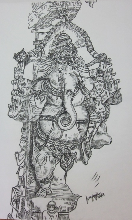Popular Vinayagar Pencil Sketch Techniques for Beginners God Vinayaga | My Pencil Drawings | Pencil Drawings, Sketches, Drawings Image