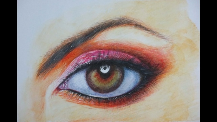 Popular Watercolor Sketch Pencil Lessons How To Draw A Realistic Eye With Watercolor Pencil Pics