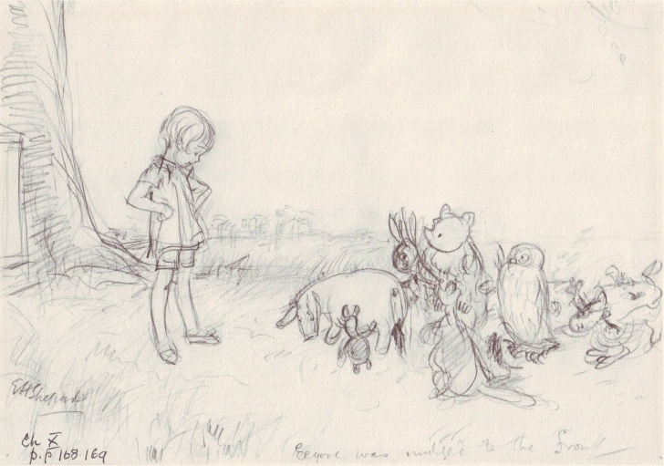 Popular Winnie The Pooh Pencil Drawings Step by Step Original Art Stories: Winnie The Pooh Pencil Sketches Pics