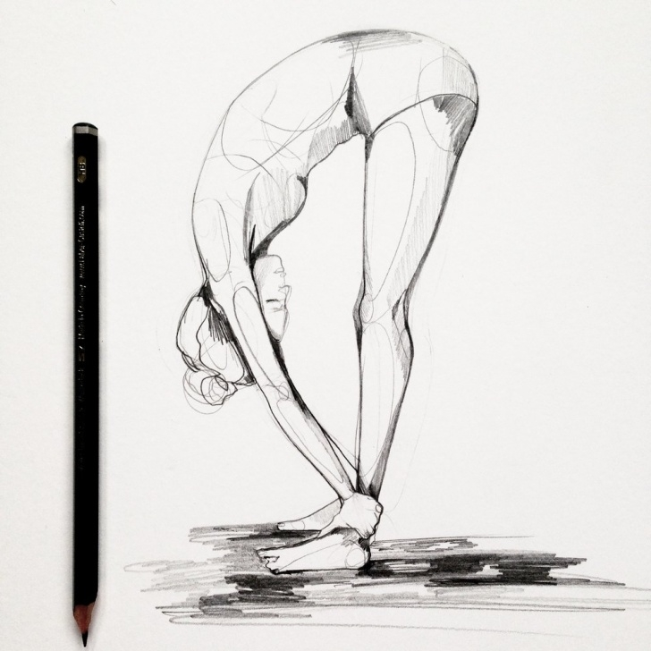 Popular Yoga Pencil Drawing Tutorial Yoga Sketch At Paintingvalley | Explore Collection Of Yoga Sketch Images