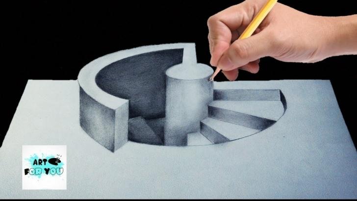 Remarkable 3D Art Drawing Pencil Techniques Trick Art Drawing – How To Draw 3D Stairs | 3D Pencil | 3D Pen Art |  Modernartpaintings Images