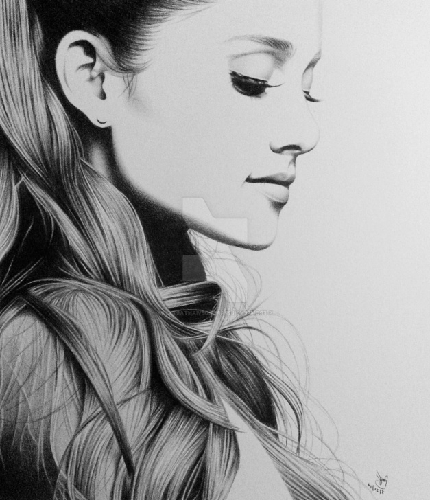 Remarkable Ariana Grande Pencil Drawing Ideas Grande Paintings Search Result At Paintingvalley Pics