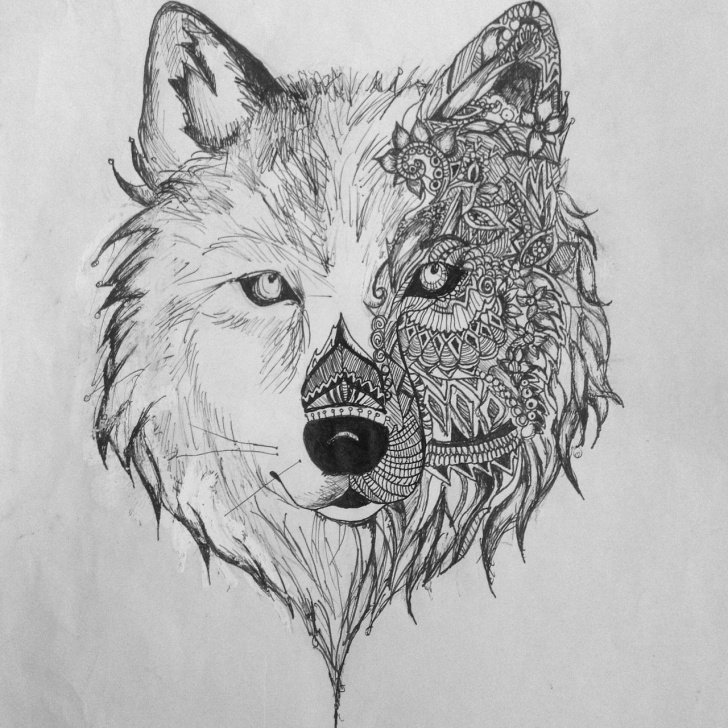 Remarkable Aztec Pencil Drawings Lessons Aztec Pencil Drawings And Many Wolves Pics Sketch Aztec Wolf Drawing Pictures