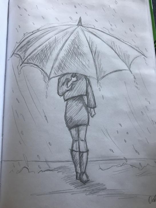 Remarkable Basic Pencil Art Tutorials Meisje In De Regen Met Een Paraplu | Art Ideas In 2019 | 3D Pencil Pics