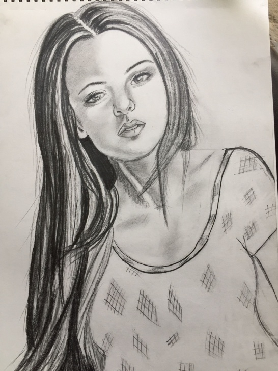 Remarkable Beautiful Girl Pencil Drawing Tutorial Trybe: Beautiful Pencil Sketch Of A Gorgeous Girl. Photo