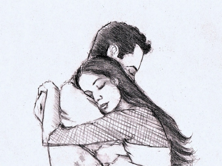 Remarkable Beautiful Sketches Of Love Step by Step Beautiful Couple Sketch At Paintingvalley | Explore Collection Pictures