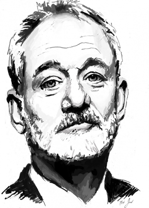 Remarkable Bill Murray Stencil for Beginners Bill Murray | Artists | Bill Murray, Art, Drawings Picture