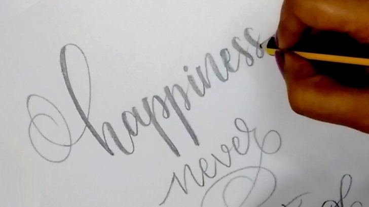 Remarkable Calligraphy For Beginners With Pencil Simple How To : Write In Modern Calligraphy With Pencil | Easy Hand Lettering For  Beginners Pic