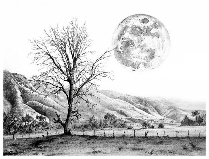 Remarkable Charcoal Landscape Sketches for Beginners Landscape Sketch Artists At Paintingvalley | Explore Collection Pics
