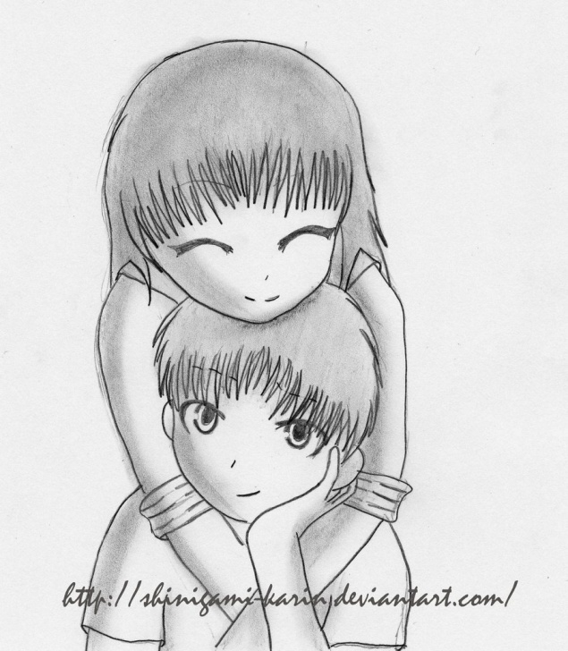 Remarkable Couple Cartoon Sketch Simple Cartoon Couple Sketch At Paintingvalley | Explore Collection Of Picture