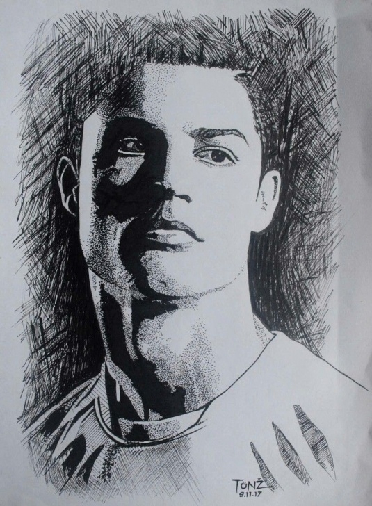 Remarkable Cristiano Ronaldo Pencil Sketch Tutorial Cristiano Ronaldo. Pencil Sketch. | Shreya | Pencil Drawings Images
