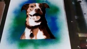 Remarkable Dog Stencil Art Courses Dog Portrait Stencil Painting Pic