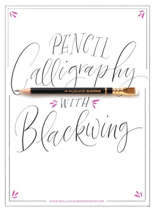 Remarkable Easy Calligraphy With Pencil Simple Molly Jacques Workshop • Tutorial: Pencil Calligraphy Pic