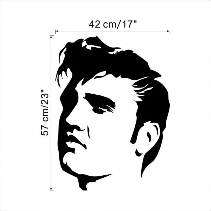 Remarkable Elvis Stencil Art Easy Us $3.11 8% Off|Elvis Presley Large Bedroom Wall Mural Art Sticker Stencil  Decal Matt Vinyl Boys Room Decor-In Wall Stickers From Home & Garden On Pics