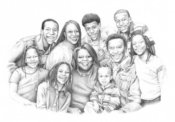 Remarkable Family Sketches With Pencil Techniques Black Family Drawing At Paintingvalley | Explore Collection Of Image