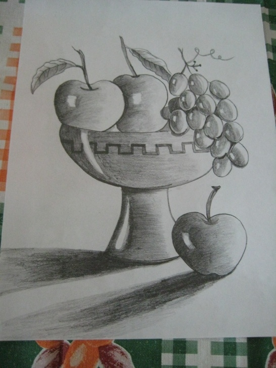 Remarkable Fruits Pencil Shading Step by Step Fruit Bowl Pencil Sketch And Creations Of Mythili: Fruit Bowl Photos