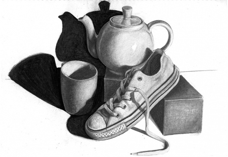 Remarkable Graphite Still Life for Beginners Drawing - Still Life On Behance Pics
