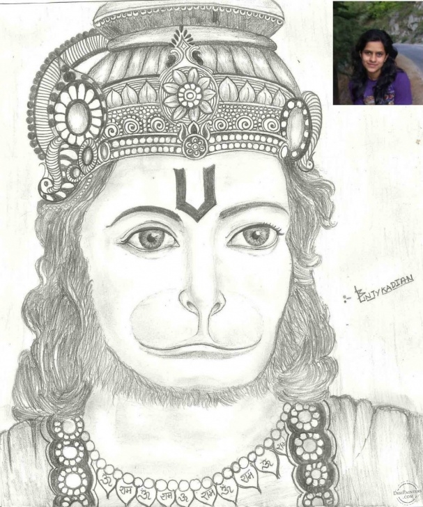 Remarkable Hanuman Pencil Art Step by Step Pencil Sketch Of Lord Hanuman | Desipainters Pic