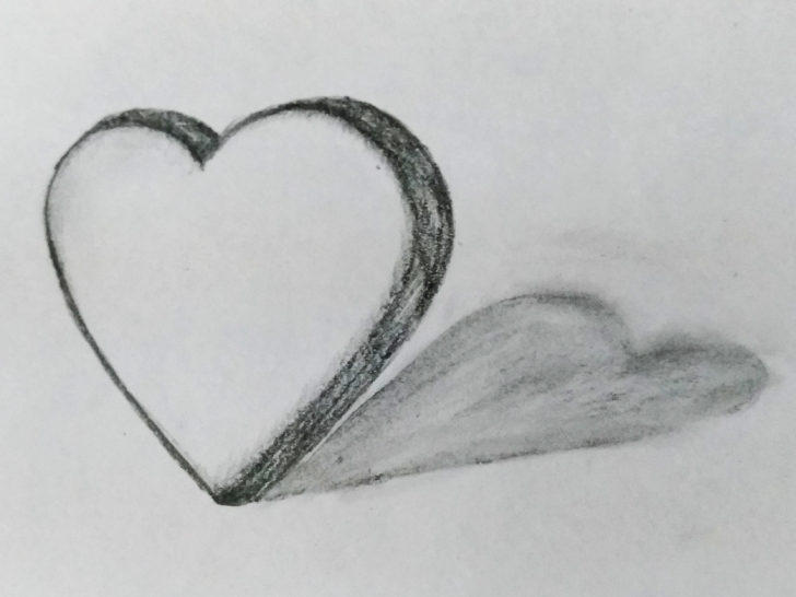 Remarkable Heart Pencil Drawing for Beginners Floating Heart Art By Mlspcart On Dribbble Pics