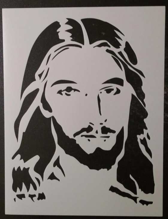 Remarkable Jesus Christ Stencil Art Easy Jesus Christ Face Christmas Custom Stencil Fast Free Shipping Image