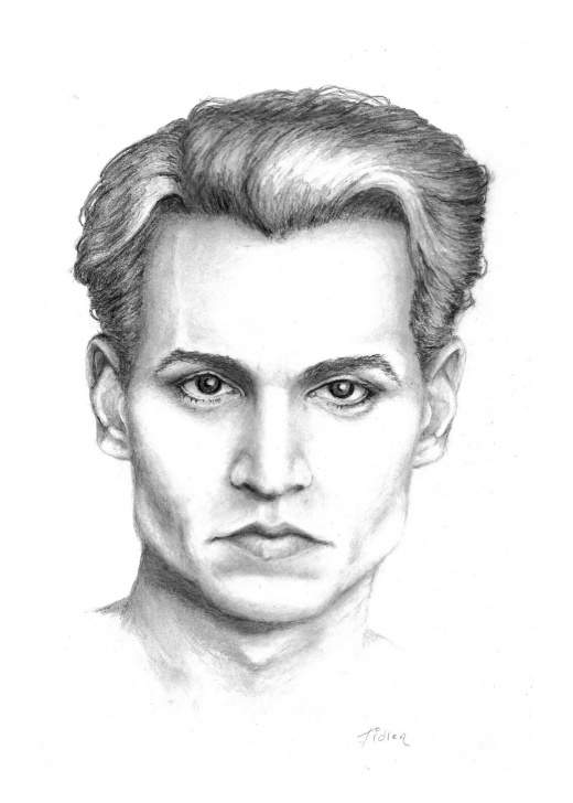Remarkable Johnny Depp Sketch Ideas Johnny Depp Drawing, Pencil, Sketch, Colorful, Realistic Art Images Picture