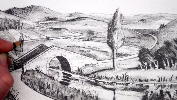 Remarkable Landscape Drawing Sketch Step by Step How To Draw A Landscape: Pencil Drawing: Narrated Images