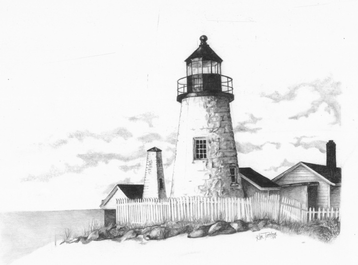 Remarkable Lighthouse Pencil Drawing Step by Step Pencil Drawings: Lighthouse Drawings In Pencil Pics