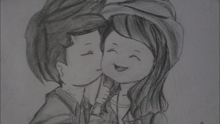 Remarkable Lovely Couple Sketch Ideas How To Draw Cute Couple In 2 Minutes | Girlfriend Boyfriend | Photos