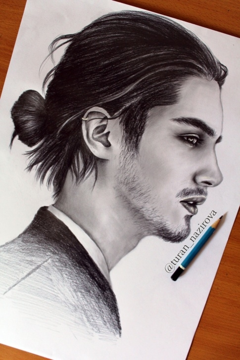 Remarkable Man Pencil Drawing Techniques Art #drawing #portrait #male #hair #blackandwhite #illustration Pic