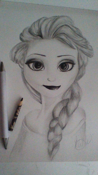 Remarkable Motivational Pencil Sketches Courses Elsa From Frozen Pencil Drawing ~By Snuggle Bunny | Art | Pencil Pictures