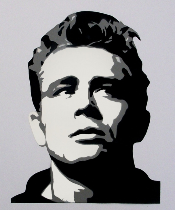 Remarkable Multi Layer Stencil Art Techniques for Beginners Details About James Dean Retro Portrait Multi Layer Stencil Paint Pic