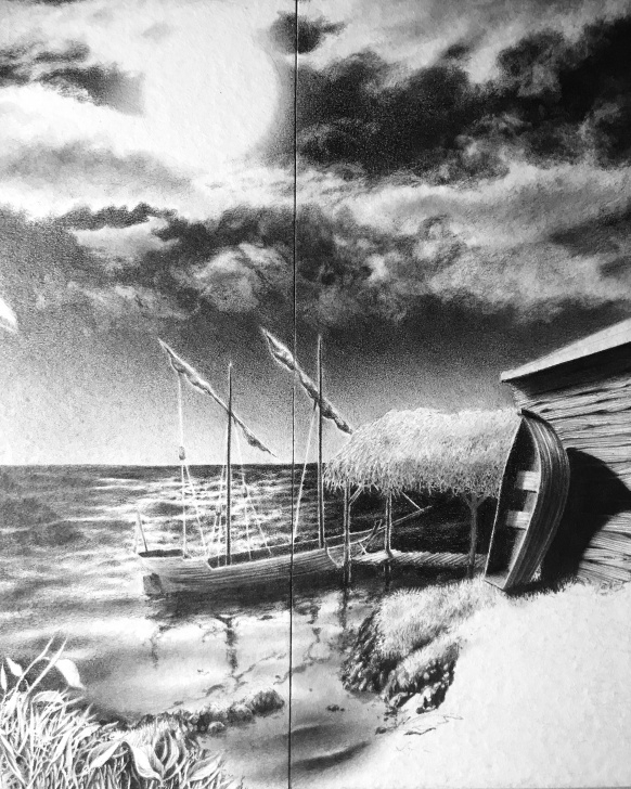 Remarkable Ocean Pencil Drawing Easy Work In Progress, Ocean Pencil Drawing : Drawing Photos