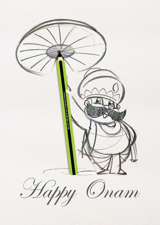 Remarkable Onam Pencil Drawings Easy Pin By Cart Communication On Cards | Drawings, Sketches, Painting Image
