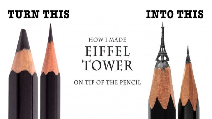 Remarkable Pencil Carving Pencils Lessons I Carve Eiffel Tower On The Tip Of A Pencil Images