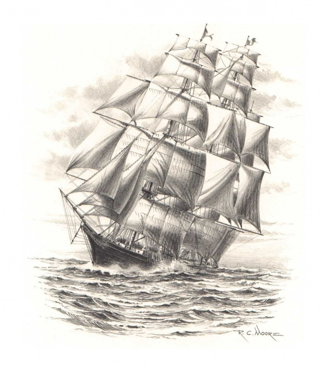 Remarkable Pencil Drawing Ship Simple Pencil Drawings |  Share To Twitter Share To Facebook Labels Free Image