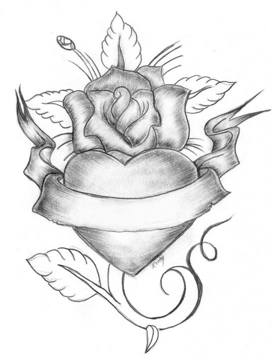 Remarkable Pencil Drawings Of Roses And Hearts Techniques for Beginners Free Pencil Sketches Of Hearts And Roses, Download Free Clip Art Pic