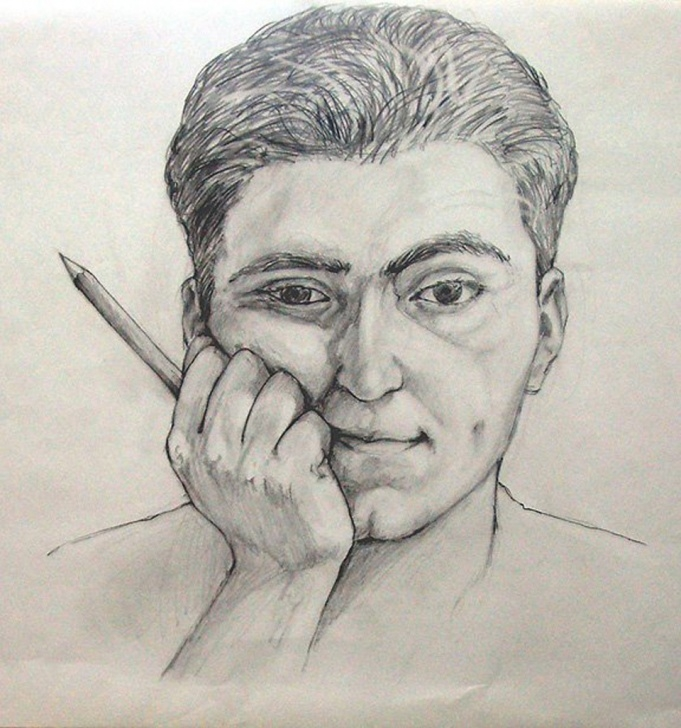 Remarkable Pencil Self Portrait for Beginners Pencil - Self Portrait - Smartistic Image