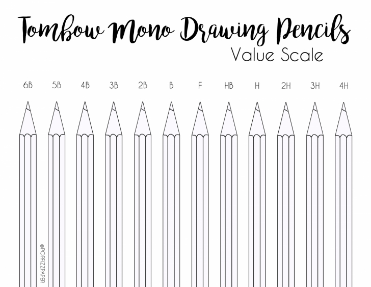 Remarkable Pencil Shades Lightest To Darkest Tutorials Value Scale Using Tombow Mono Drawing Pencils - Tombow Usa Blog Image