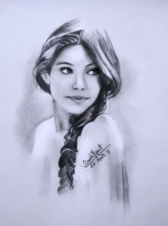 Remarkable Pencil Shading Of Girl for Beginners Pencil Shading Portrait Of A Girl #watercolour #lady #face #figure Pics