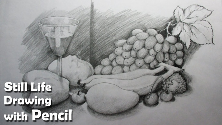 Remarkable Pencil Shading Of Vegetables Tutorial How To Draw A Still Life : Fruits In Pencil | Step By Step Image