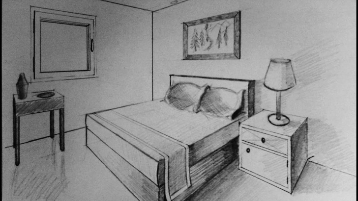 Remarkable Pencil Sketch Of A Bedroom Lessons How To Draw - Two Point Perspective - Bedroom Pictures