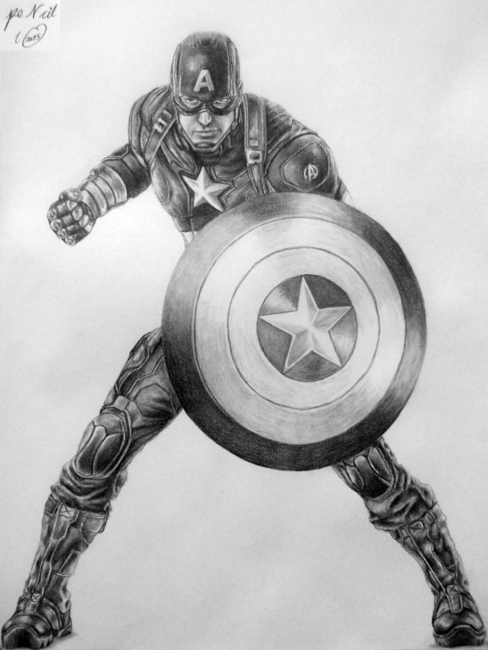 Remarkable Pencil Sketch Of Captain America Free Captain America Shield Pencil Sketch And Captain Americapencilir On Image