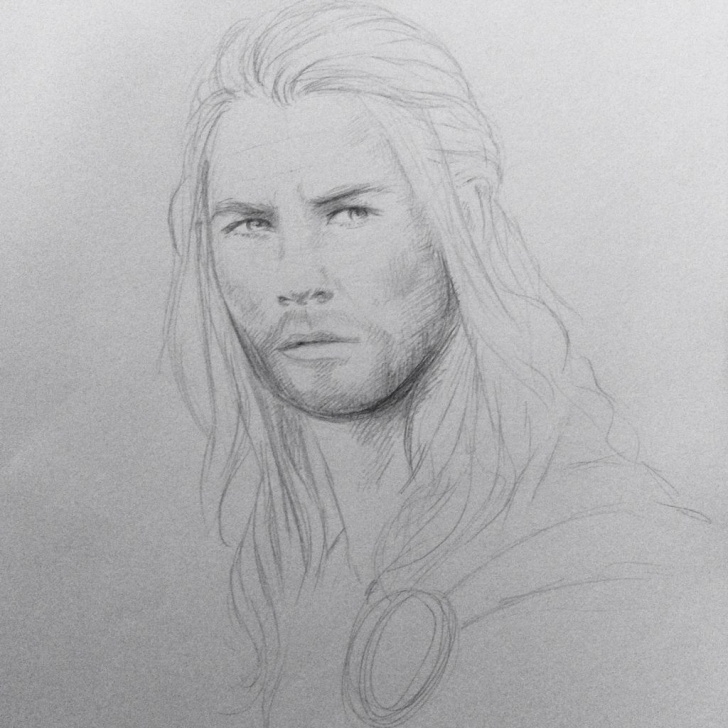 Remarkable Pencil Sketch Of Thor Lessons Thor Sketch Drawing Pencil Chris Hemsworth Marvel Avengers | The Image